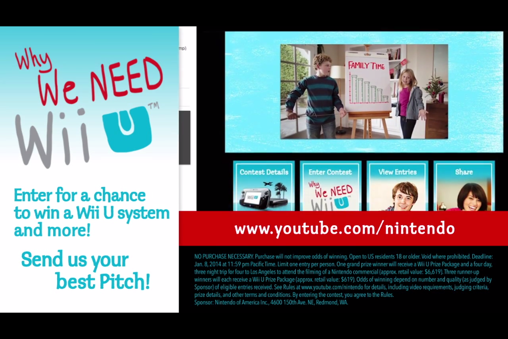 """Nintendo Launches Wii U """"The Pitch"""" Contest"""