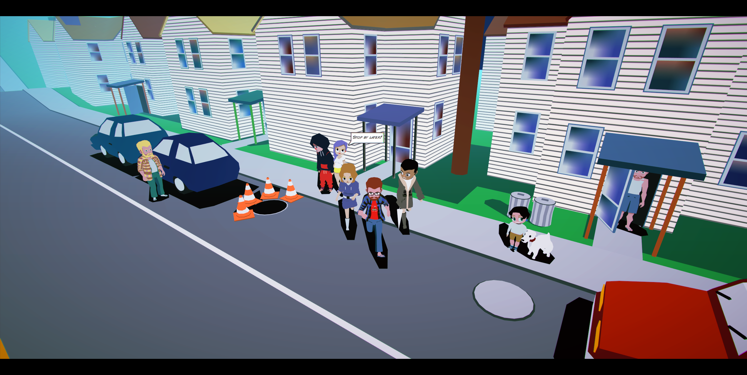 Project Y2K Walking Around Town Screenshot