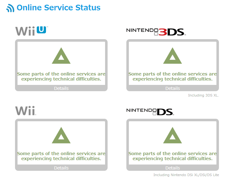 nintendo online server status
