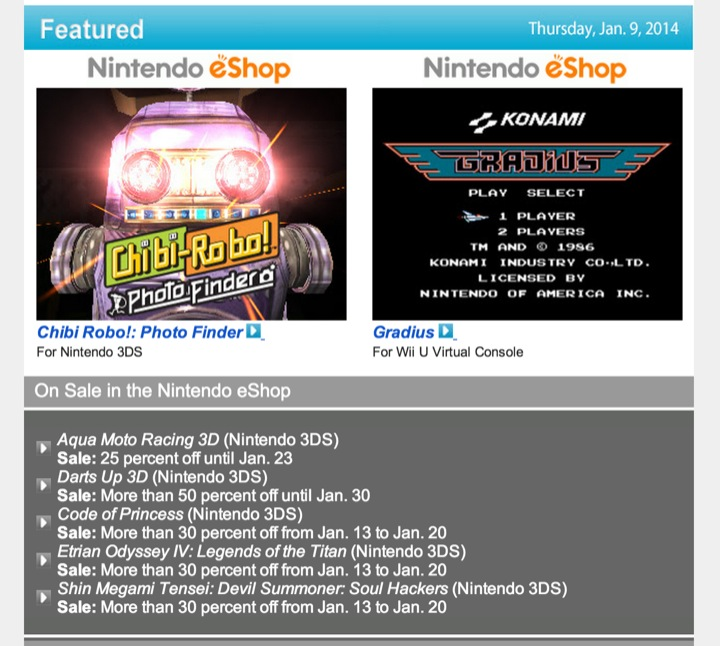 Nintendo Download – January 9, 2014