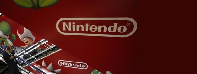 Nintendo escalator in Tokyo