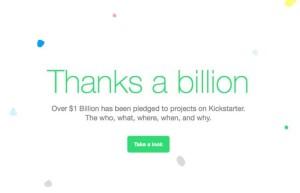 Kickstarter 1 billion