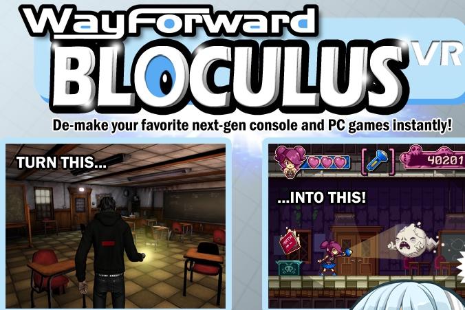 April Fools: WayForward Releases New VR Tech, Introducing Bloculus VR