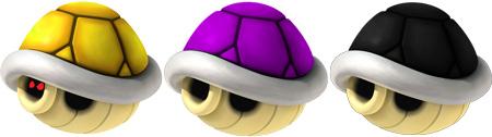 Rainbow, purple and black shells