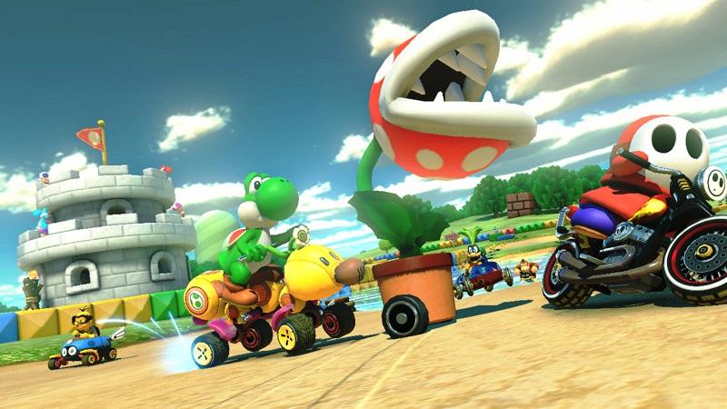 Mario Kart 8 Mario Circuit GBA Footage