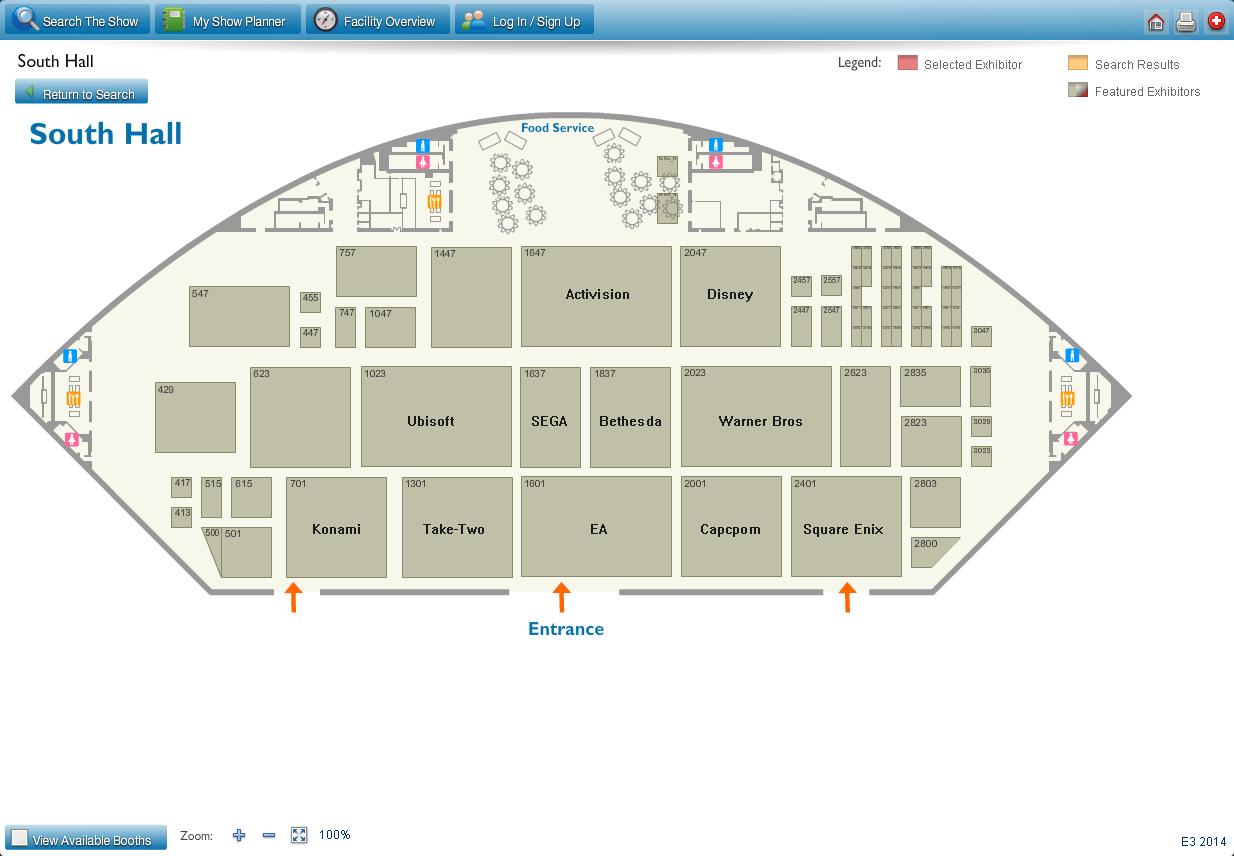 E3 floor plan - South Hall