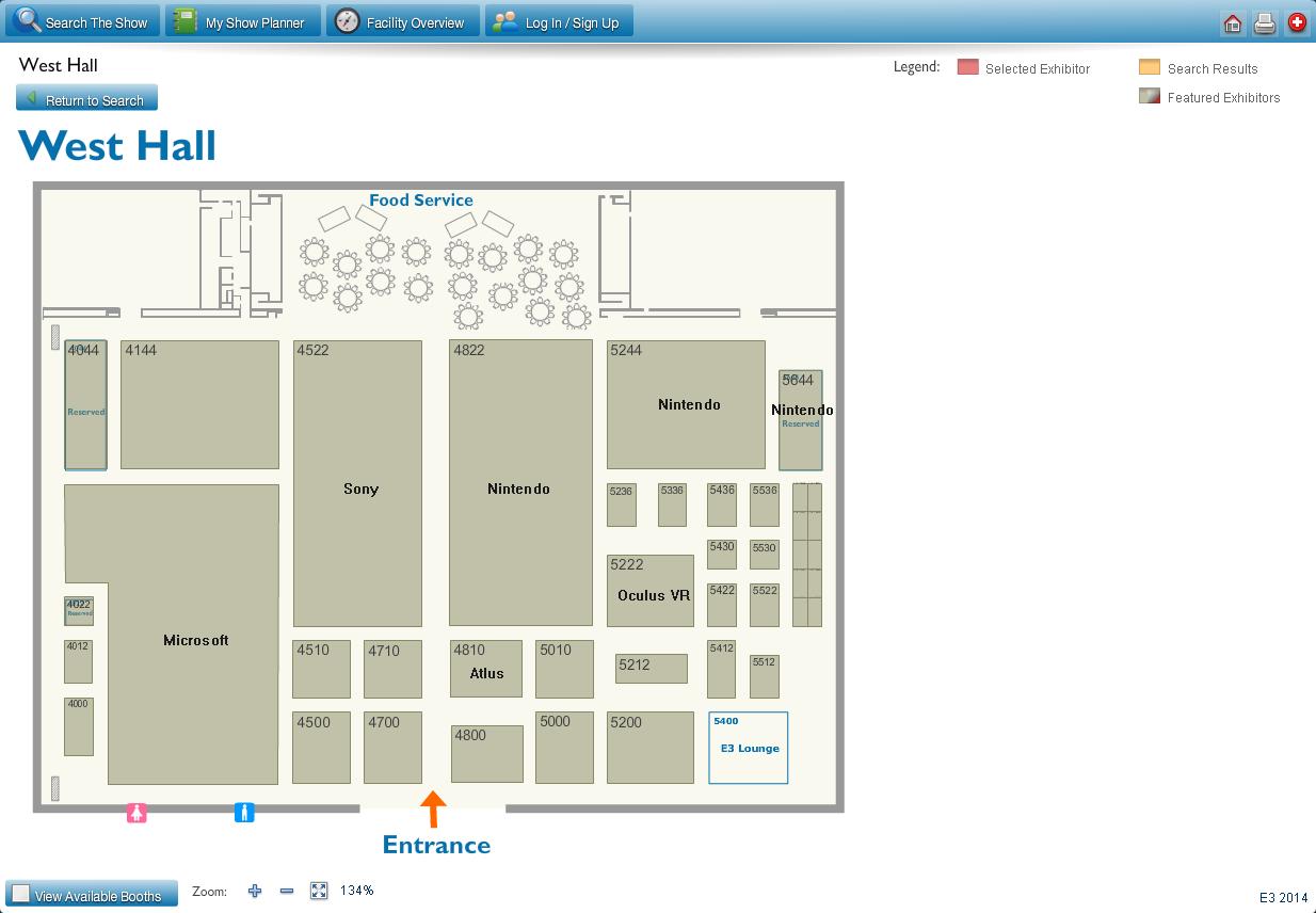 E3 floor plan - West Hall