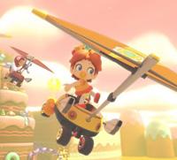 Gliding in Mario Kart 8