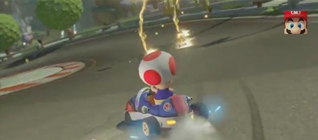 Latest Mario Kart 8 US TV Trailer – Lightning Bolt Test