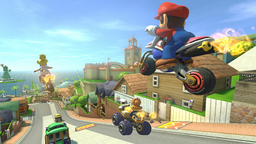Peach's bike in Mario Kart 8