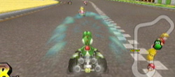 Slip-streaming in Mario Kart Wii