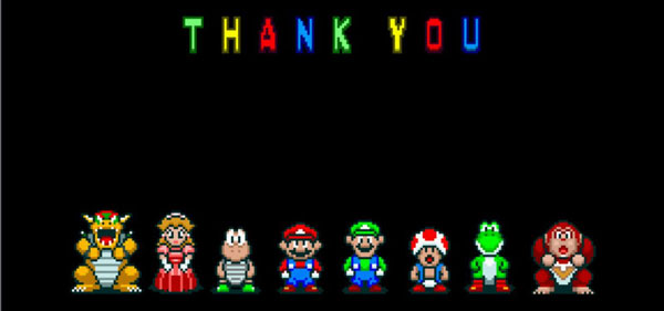 Thank you - Super Mario Kart