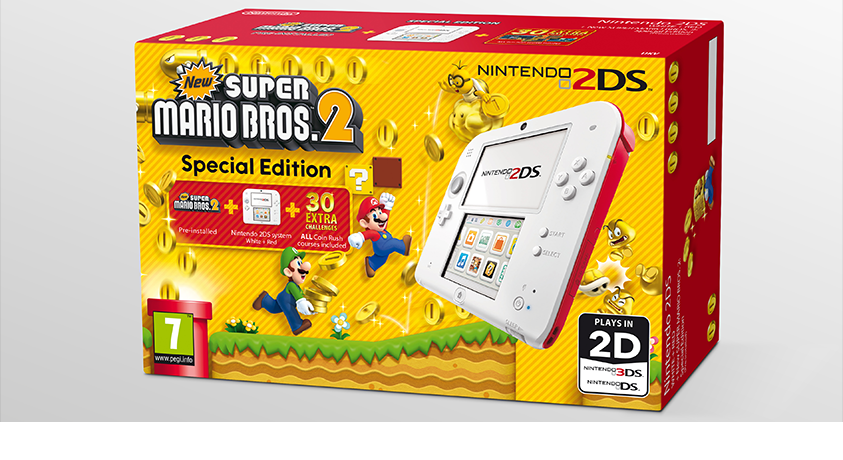 New Super Mario Bros. 2 Special Edition 2DS Coming to the UK July 4