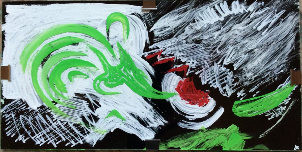 Abstract 'Yoshi' painting