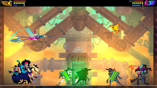 Guacamelee! is heavily influenced by Mexican folklore/traditions, especially the Day of the Dead festival