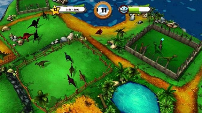 My Jurassic Farm - overhead island shot