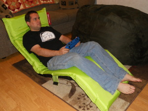 An ideal chair to use when playing the Wii U.