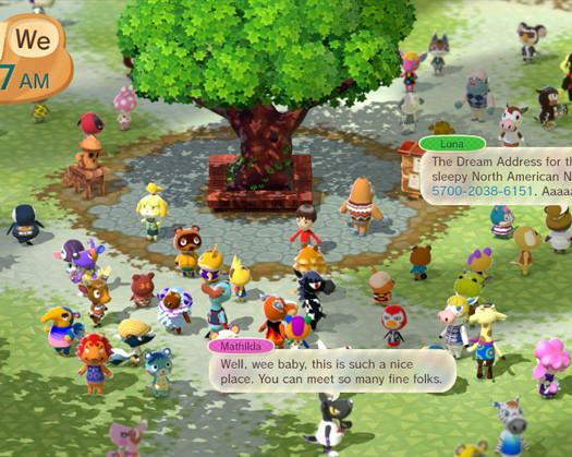 Animal Crossing Plaza on Wii U