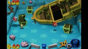 Mario Pinball Land - underwater
