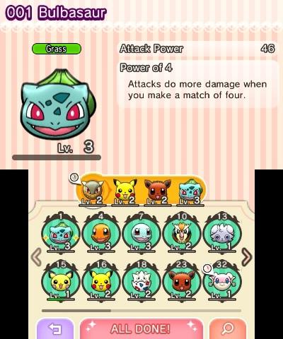 Choose your team of Pokémon before each battle.