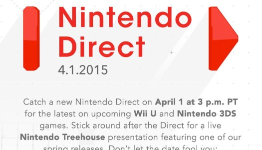 Nintendo Direct Coming Tomorrow, April 1, No Joke