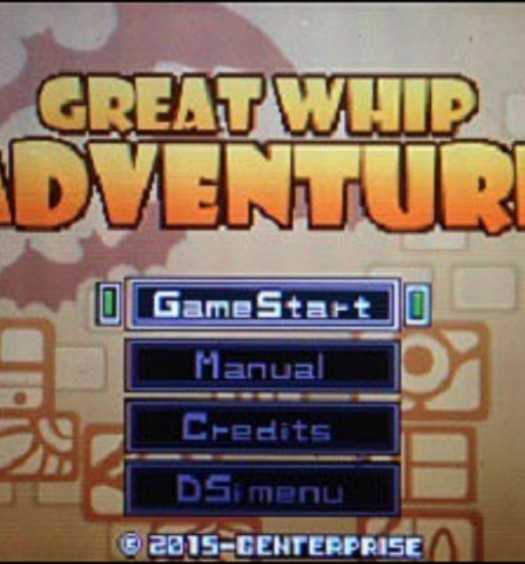 Great Whip Adventure Title Screen