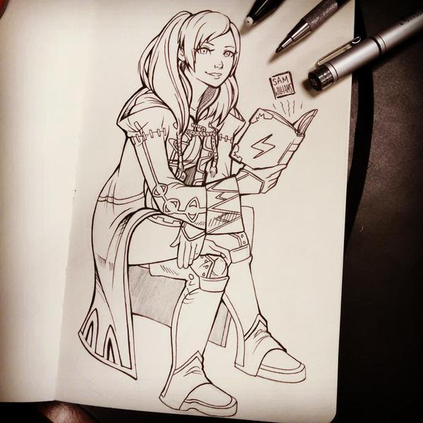 Robin Studying