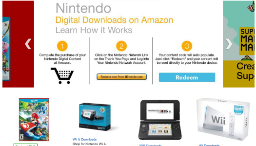 Nintendo Digital Downloads Available on Amazon