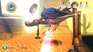 Rodea Wii - boost attack on robo enemy