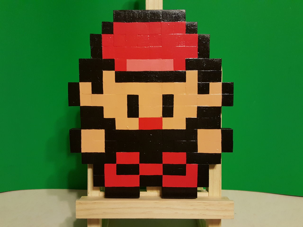 Pokemon Trainer Red Wooden Sprite Plaque by MrGilder