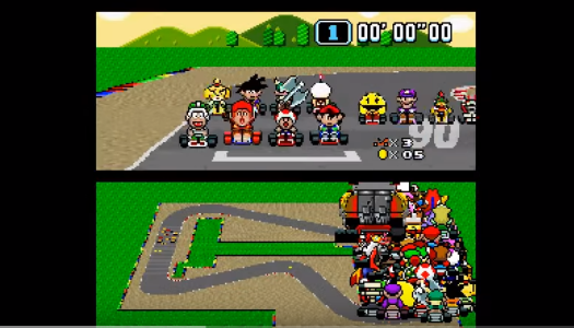 Video: Super Mario Kart … with 101 Players!