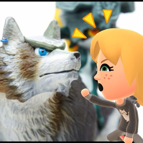 After taking verbal beatings from Midna, Wolf Link wasn't about to put up with any from Kaelyn.