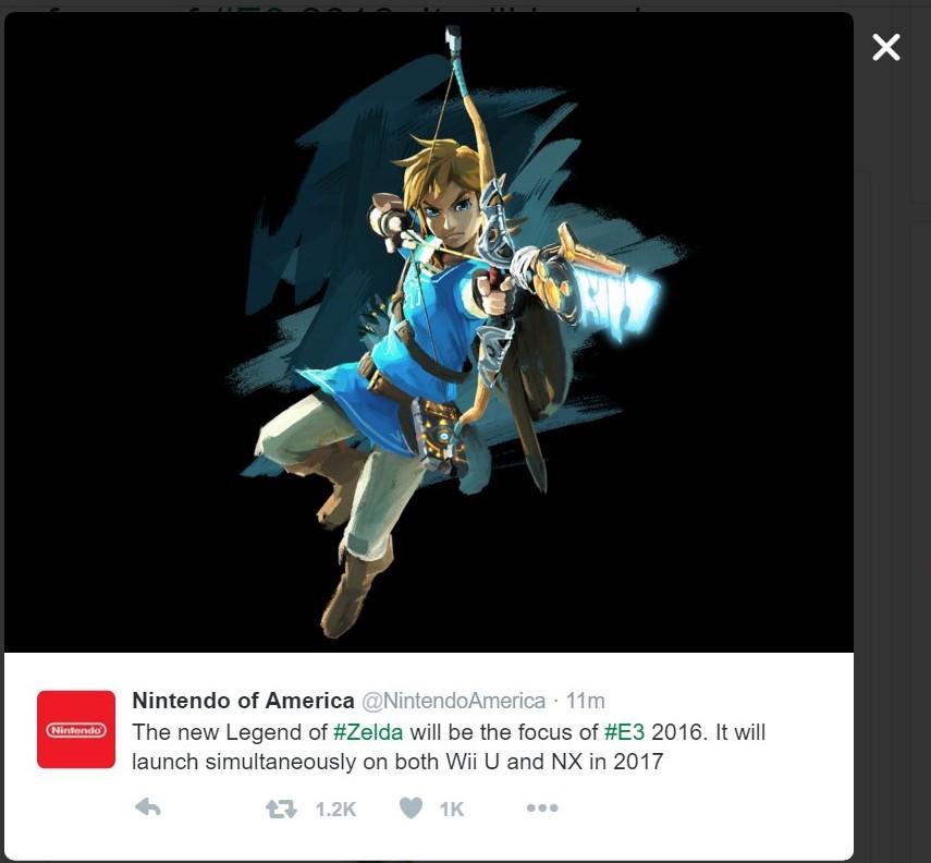 Legend of zelda wii u release date
