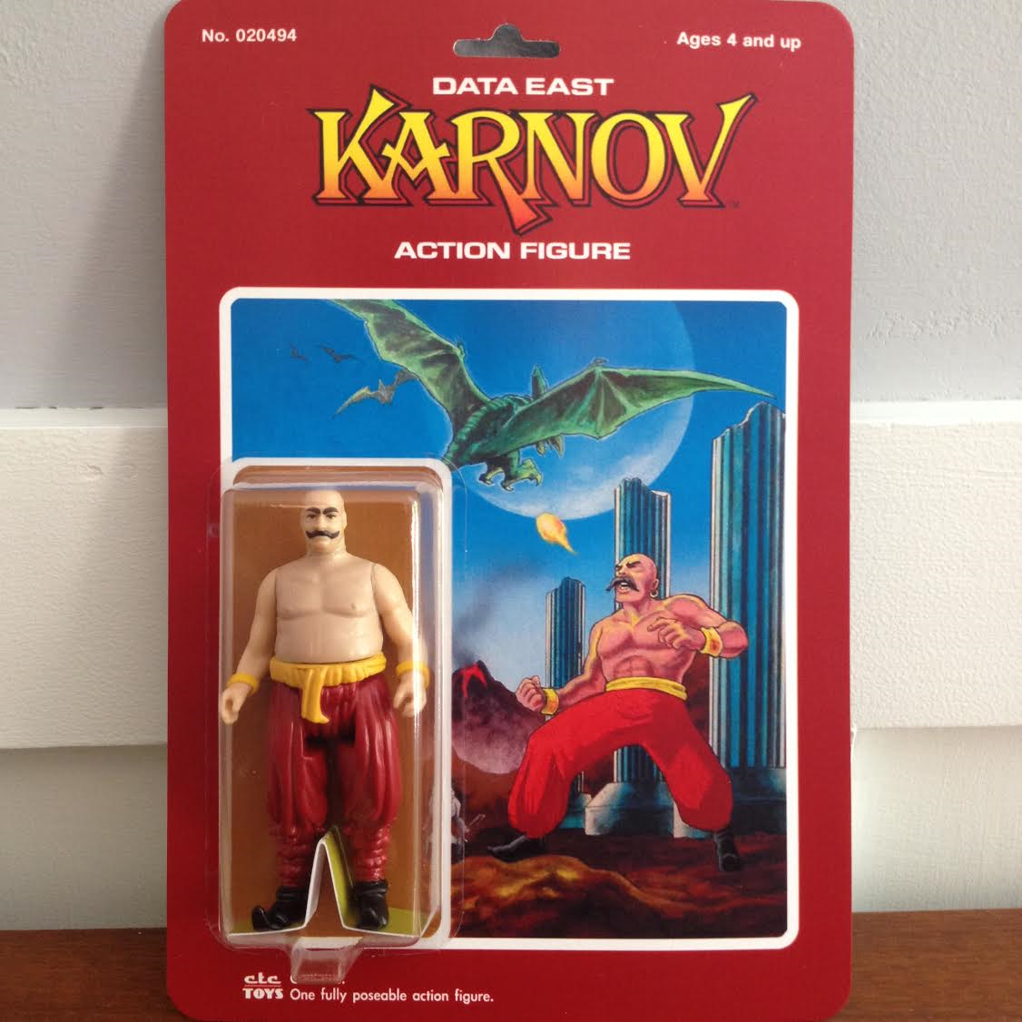 Custom Karnov action figure