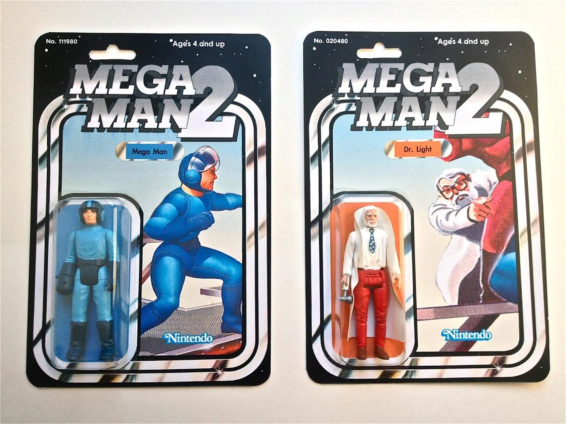Custom Mega Man 2 figures: Mega Man and Dr. Light