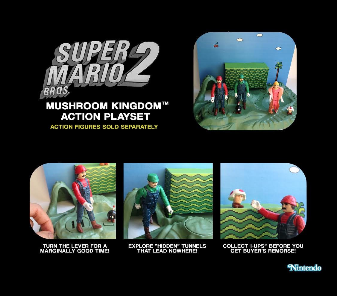 Custom Super Mario 2 action play set