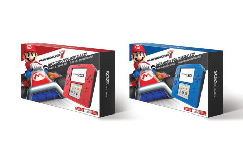 Nintendo reveals new red and blue 2DS colors