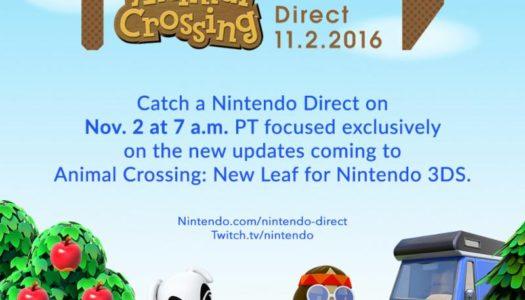 Animal Crossing Nintendo Direct Coming on Wednesday, Nov. 2
