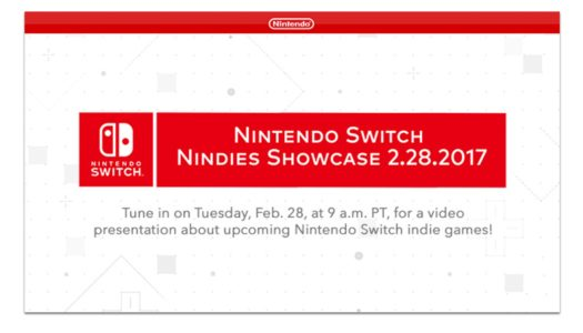 Nindies Showcase video presentation announced for Feb. 28 at 9am PT