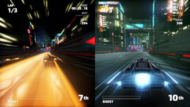 Fast RMX split-screen mode