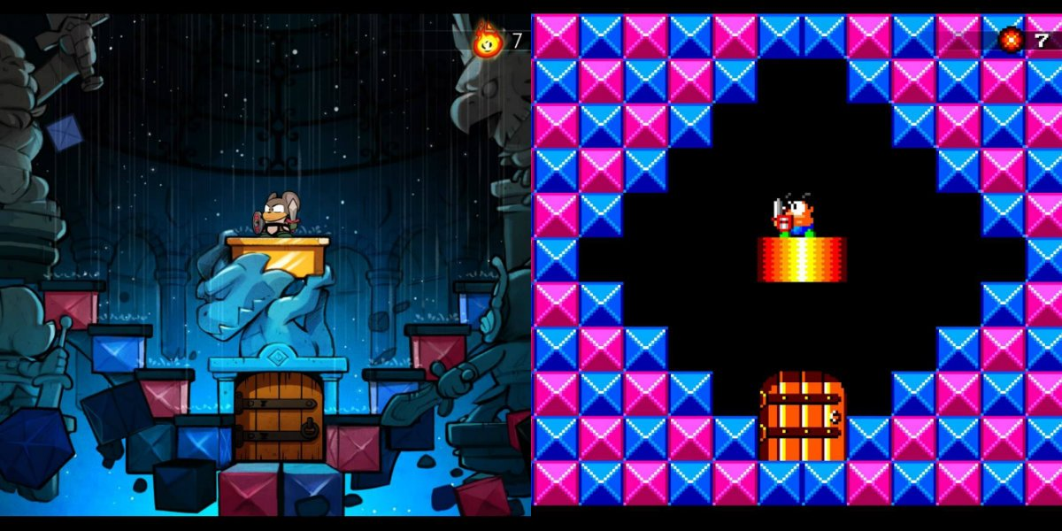 Wonder Boy The Dragons Trap Is An Action Adventure Game About A Or Girl Who Has Been Turned Into Half Human Lizard Type Creature By