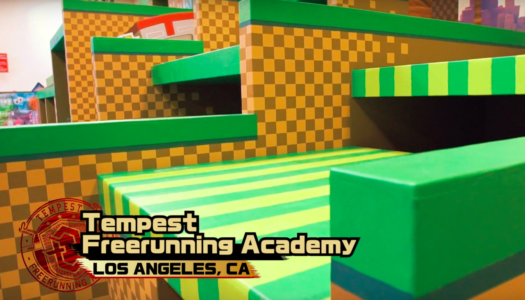 Sonic themed parkour obstacle course hits LA gym