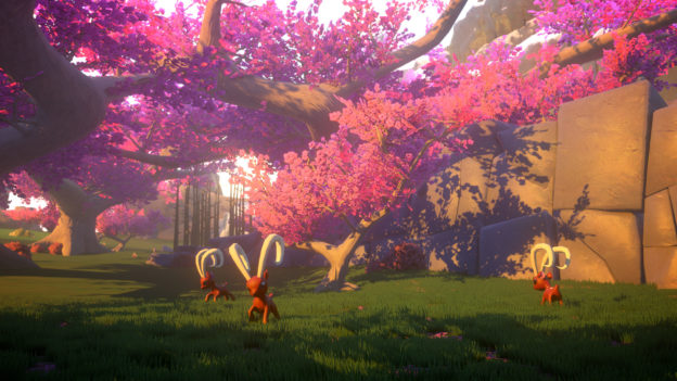 Yonder: The Cloud Catcher Chronicles - purple trees