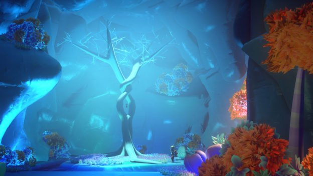 Yonder: The Cloud Catcher Chronicles - blue glowing tree