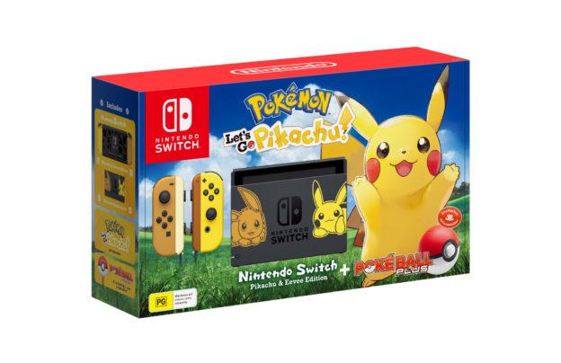 Pokemon Let's Go Pikachu console packshot