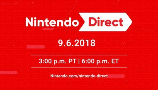 New Nintendo Direct set to air tomorrow, Sep. 6 3pm PT / 6pm ET