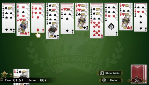 Review: Spider Solitaire F (Nintendo Switch)