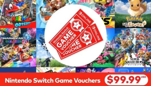 Nintendo Switch game vouchers available now with the online service