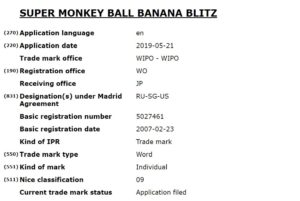 Trademark for Banana Blitz