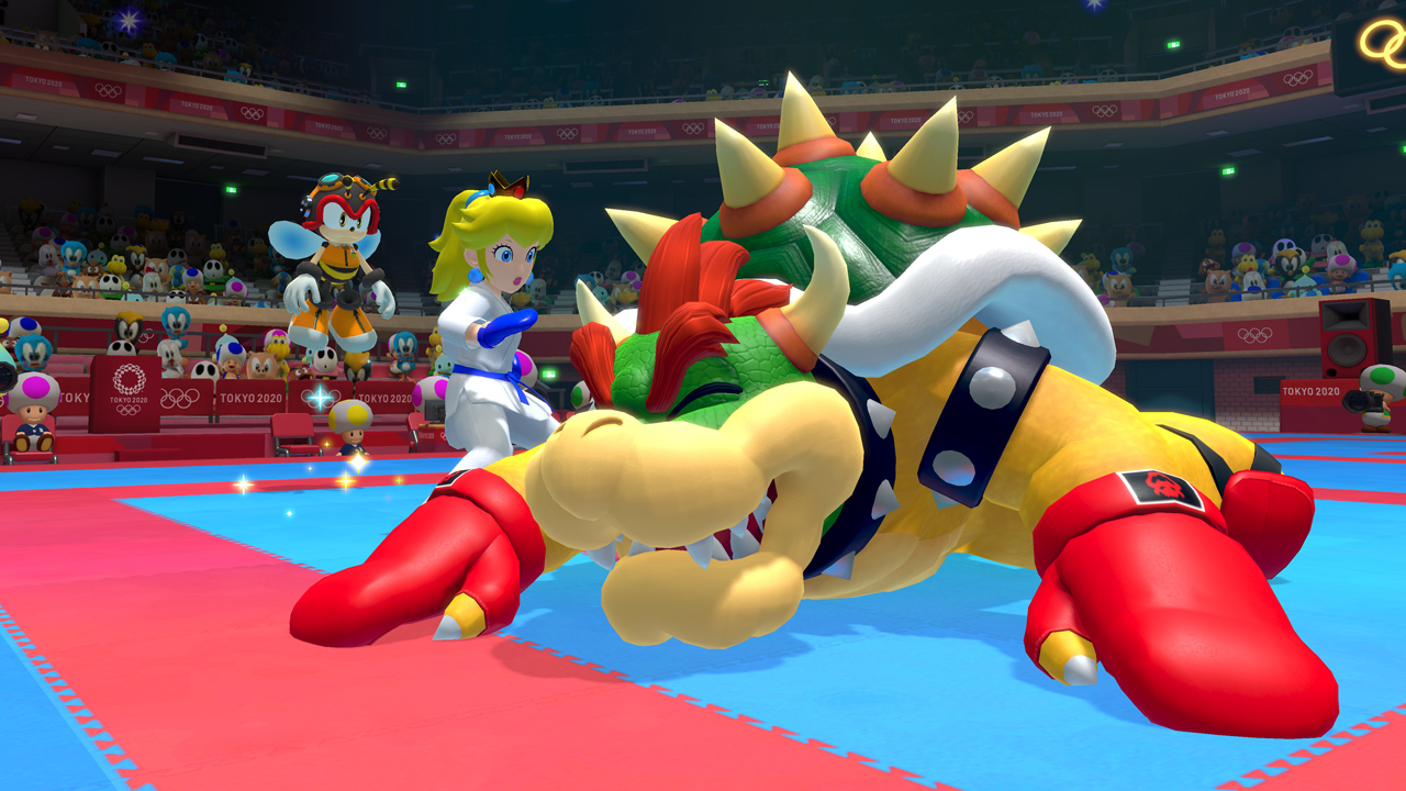 Peach VS. Bowser Karate